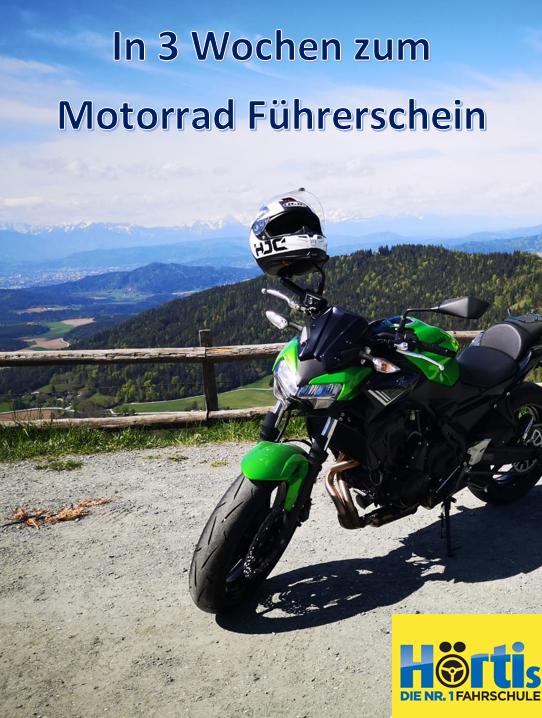 Motorradausbildung in 3 Wochen